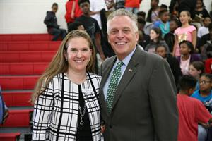 Virginia Governor Terry McAuliffe and Dr. Jennifer Tindle